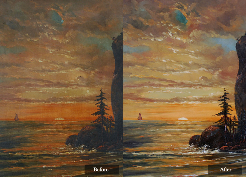 Oil Painting Varnish Removal Amp Cleaning By Lis Art